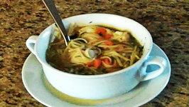 Chicken and Egg Noodles Soup