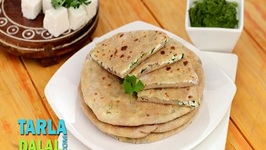 Paneer and Onion Stuffed Paratha (Calcium Rich Recipe)