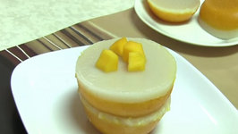 Steamed Layered Mango and Coconut Cake