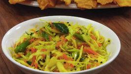 Cabbage Sambharo Recipe - Fafda Condiments - Gujarati Cuisine
