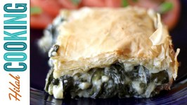 Spanakopita Recipe  Greek Spinach and Cheese Pastry  Hilah Cooking