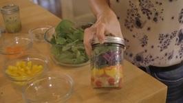 Mason Jar Salad - Eat The Colors Of The Rainbow