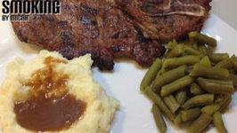 Grilled Honey Soy Pork Steaks on the Weber Kettle