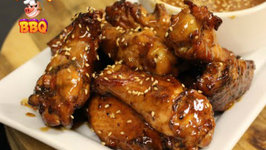 Super Bowl - Peanut Butter and Jelly Chicken Wings