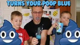 Taste Test Blue Brain Wash - It Turns Your Poop Blue