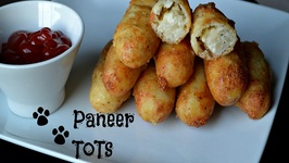 Potato Paneer (Cottage Cheese) Tots -Tea Time Appetizer Your Kids Will Love