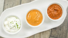 3 Chutney Recipes / Easy Dips And Sauces / Schezwan Sauce, Sesame Chutney And Eggless Milk Mayonnaise