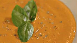 Cherry Tomato and Basil Gazpacho