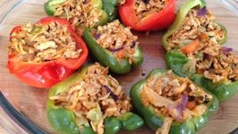 Paneer Stuffed Bell Peppers Stuffed Capsicum Indian