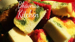 Rainbow Dhokla with Natural Food Colors - Step by Step Rainbow Dhokla