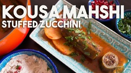 KOUSA Mahshi - Stuffed ZUCCHINI With MEAT And Rice