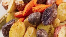90 Second Roasted Garden Vegetables