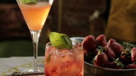 Strawberry Basil Blush Cocktail