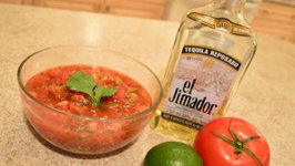 How to Make Roasted Pepper  and Tomato Tequila Salsa