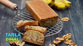 Banana and Walnut Bread, Eggless Banana and Walnut Bread