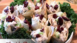 Game Day Chicken Salad Won Ton Cups
