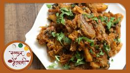 Bombil Batata Bhaji - Dry Bombil Sabzi - Recipe By Archana In Marathi - Maharashtrian Style