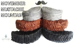Movember Mustache Mountain Cake