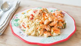 Super Easy Shrimp Scampi and Couscous......made in the Dishwasher?!!?!