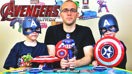 Avengers 2 Age of Ultron - Captain America Candy Bar - Kids Candy Review with Eli and Liam