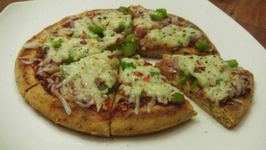 Veg Pizza Without Yeast, Without Oven, Instant Pizza Base,Sauce - Eggless Baking Without Oven