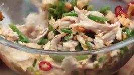 Wegmans Szechuan Chicken, Green Beans and Mushrooms