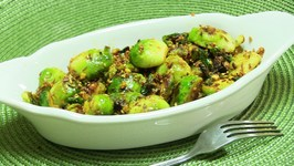 Spicy Brussels Sprouts Indian style Video Recipe