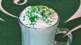 Mint White Hot Chocolate  St. Patricks Day