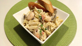 Seafood Penne Alfredo - Savor the Flavors with Brittany Allyn