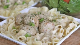 Creamy Meatball Stroganoff Recipe (Slow Cooker)