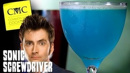 The Sonic Screwdriver A Dr. Who Cocktail -TARDIS Blue