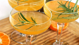 Rosemary and Clementine Champagne Cocktail
