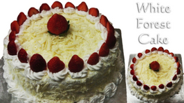 White Forest Cake - Cooker Cake, Eggless-Without Condensed Milk, Eggless Baking Without Oven