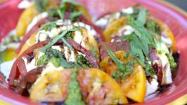 Heirloom Tomato Caprese Salad and Homemade Pesto