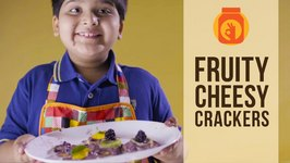 Fruity Cheesy Crackers  Recipe by a Kid