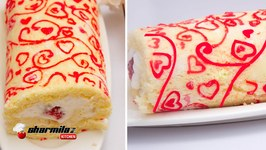 Patterned Swiss Roll Cake  Japanese Deco Roll Cake  Valentines Day Special
