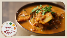 Sukat Kalvan  Quick Dry Prawns Curry  Recipe by Archana in Marathi  Easy To Make