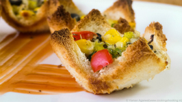 Instant Pizza Cups -  Bread Pizza Cups - Katori Pizza - Easy Anytime Snack