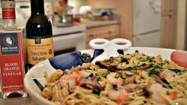 How to Cook Shrimp and Shiitake Linguine with Tres Citrus Balsamic Butter Sauce