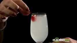 Winter Holiday Party Drinks- Gin Fizz