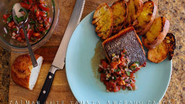 Salmon with Tomato Anchovy Salsa