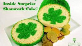St Patrick's Day Cake with Inside Surprise Shamrock