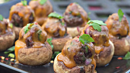 Mini Meatball Stuffed Mushrooms - Perfect appetizer