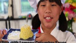 Rice with Lemony Cucumber Sauce