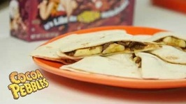 Cocoa Pebbles Quesadillas