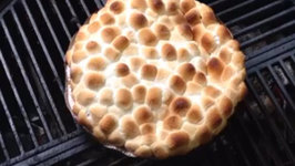 One Year Anniversary - S'more Pie on the Weber Kettle