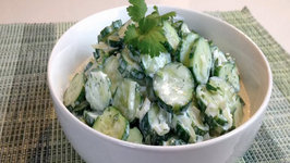 Creamy Cilantro Lime Cucumber Salad - Savor the Flavors with Brittany Allyn