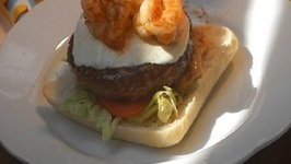 Cajun Surf And Turf Burger