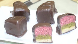 Holiday Tri-Color Truffle Treat - Make it Vegan - Marzipan Recipe