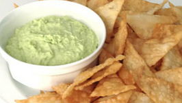 Brittany Allyn  Savor the Flavors  Edamame Hummus with Wonton Chips